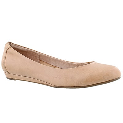 Lds Torey Ballentine nude leather flat