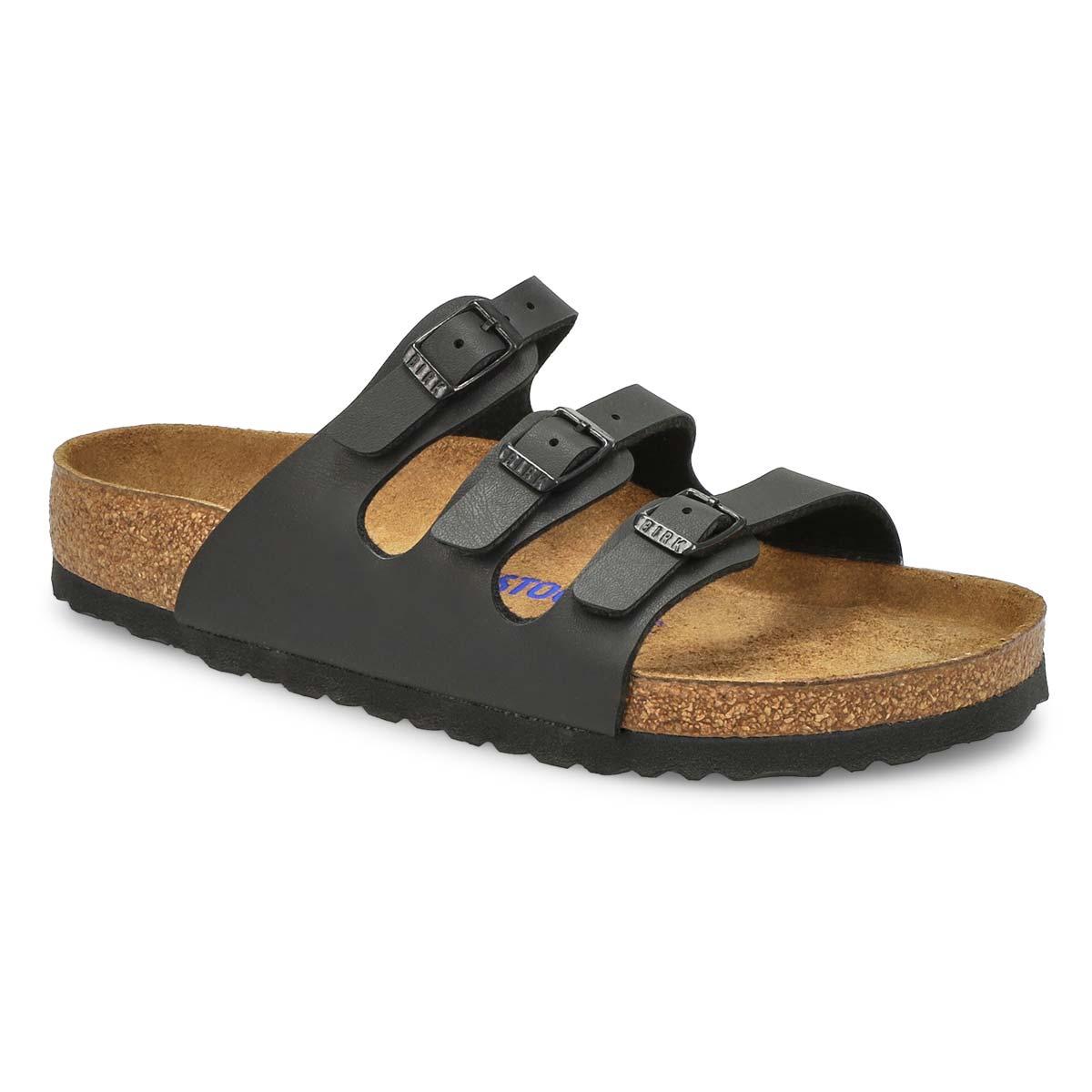 Women's FLORIDA black BF 3 strap sandal SF