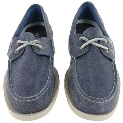 Sperry Top-Sider Men's A/O salt stained blue boat shoes