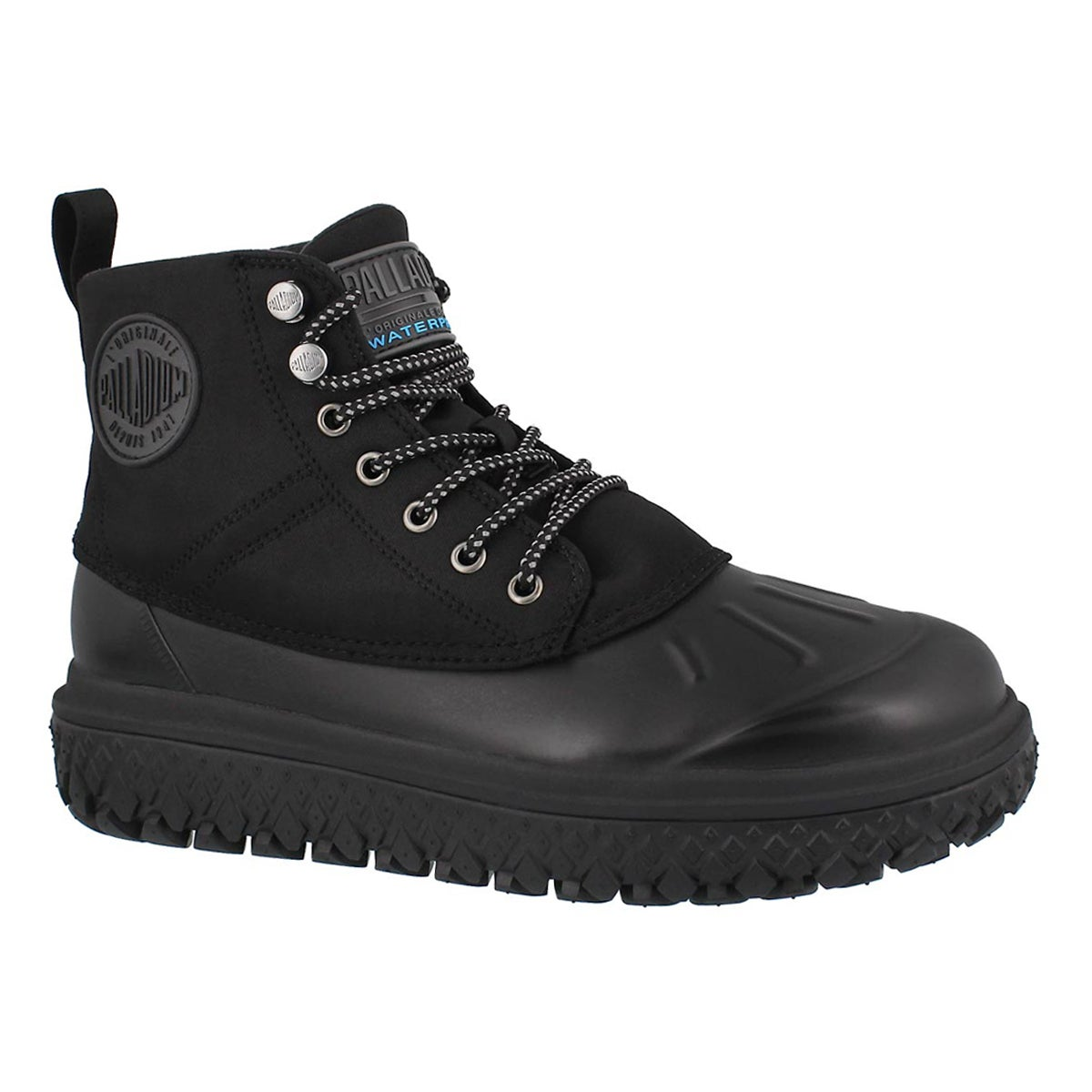 Men's CRUSHION SCRMBL blk waterproof ankle boots