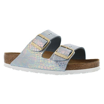 Birkenstock Women's ARIZONA shiney snake sky sandals