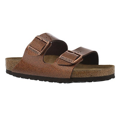 Birkenstock Women's ARIZONA SF magic galaxy bronze sandals