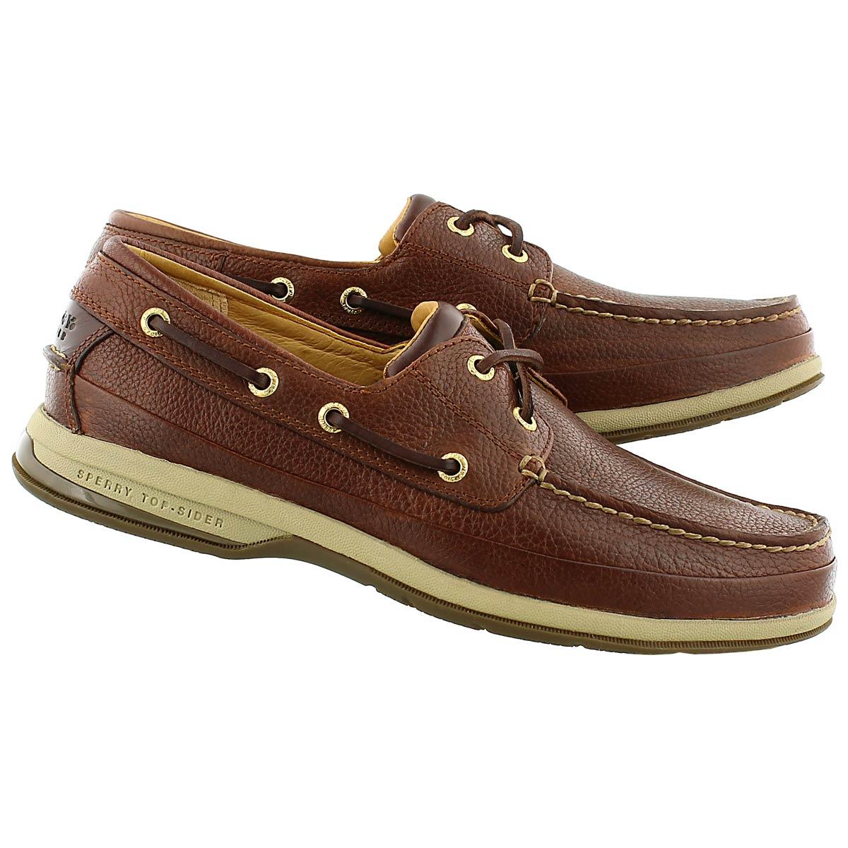 Mns Gold Boat W/ ASV cognac boat shoe