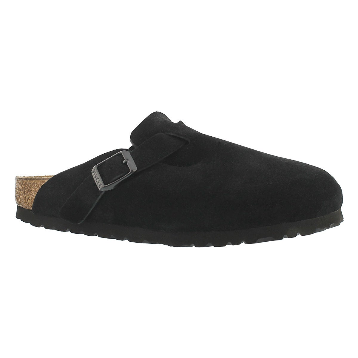 Women's BOSTON black suede clogs - Narrow