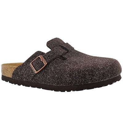 Birkenstock Women's BOSTON mocha birko felt clogs - Narrow