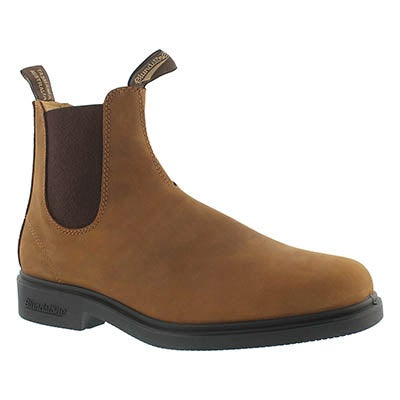 Blundstone Unisex CHISEL TOE tan pull-on boots - UK SIZING