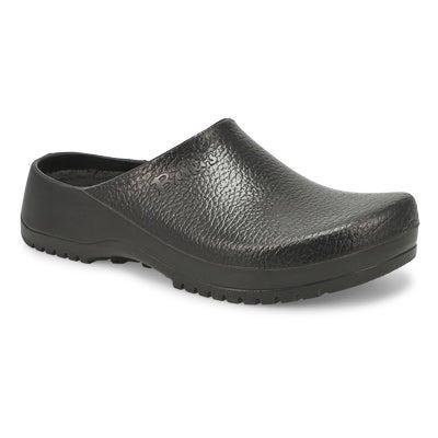 Birkenstock Men's SUPER-BIRKI black comfort clogs