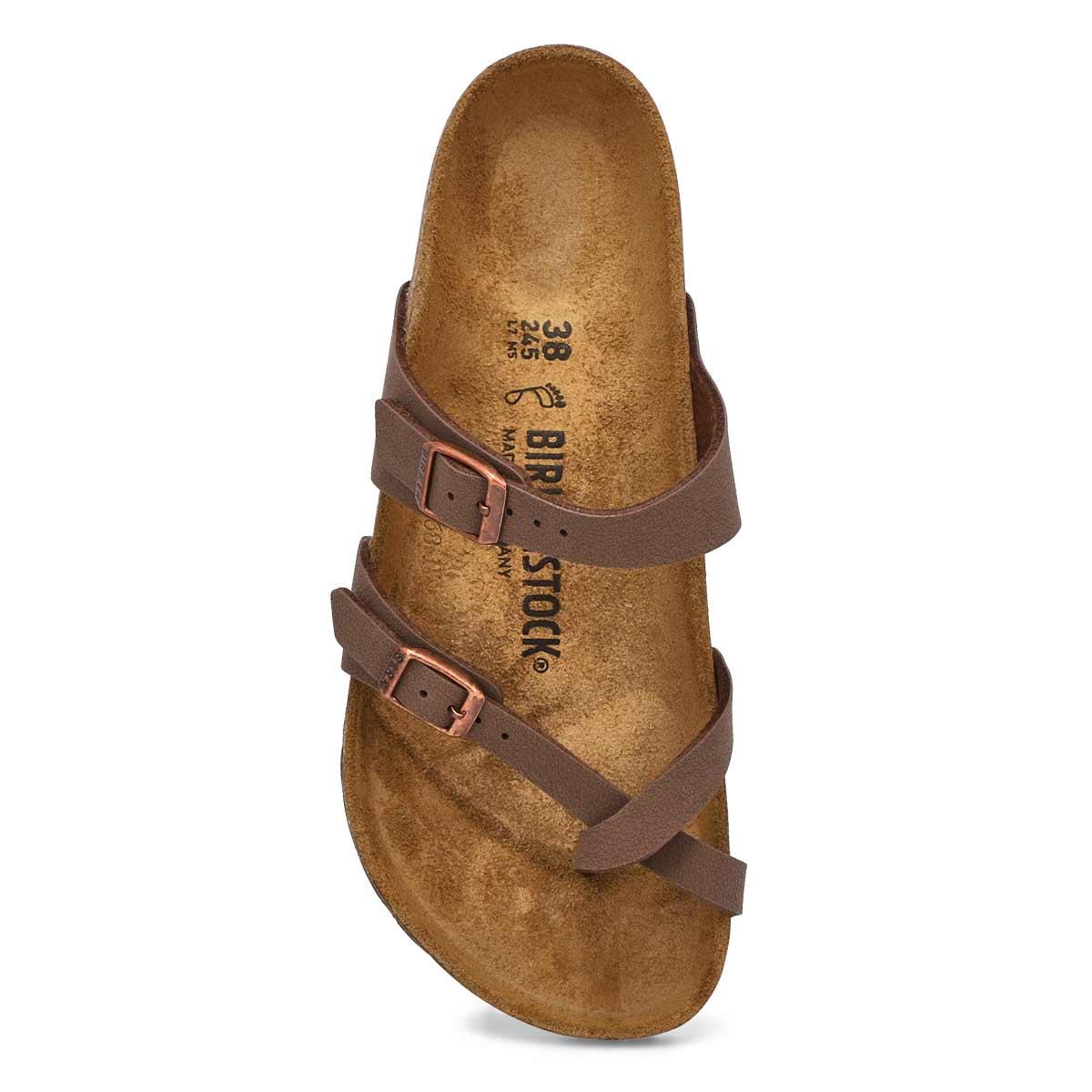 Women's MAYARI mocha adjustable toe loop sandals