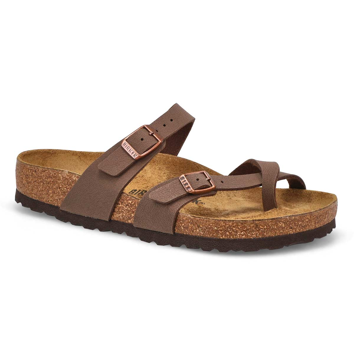 Women's MAYARI mocha adjustable toe loop sandals