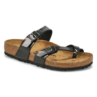 Birkenstock Women's MAYARI black adjustable toe loop sandals