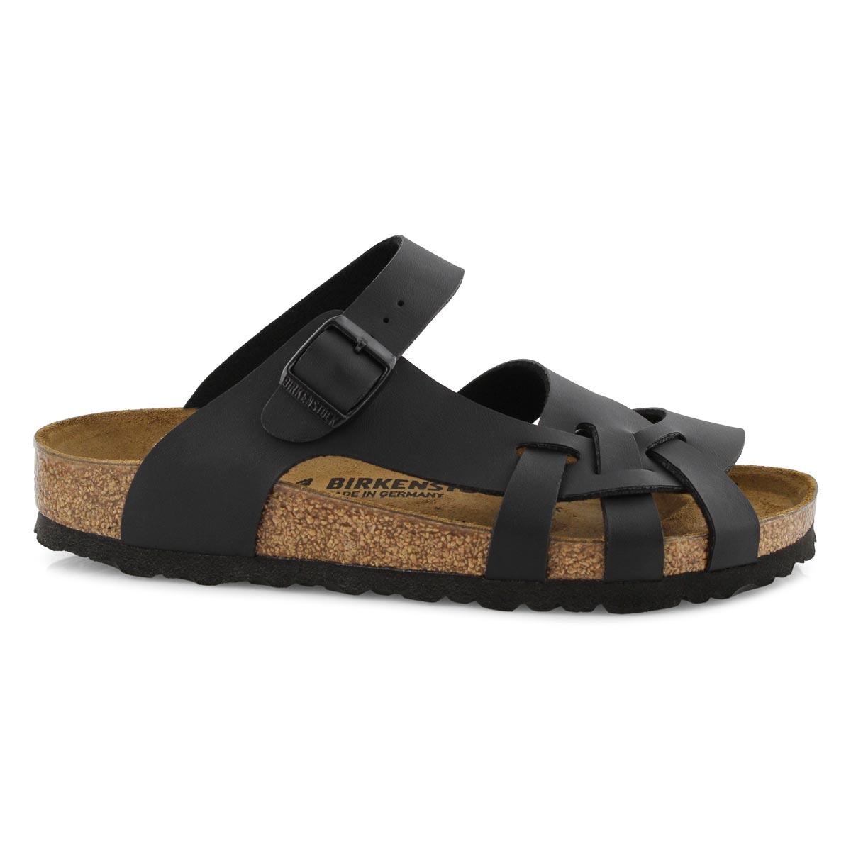 Sandale Pisa, bride axiale, noire-Étroit
