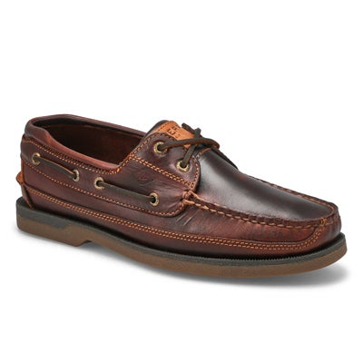 Sperry Men's MAKO amaretto 2-Eye leather boat shoes