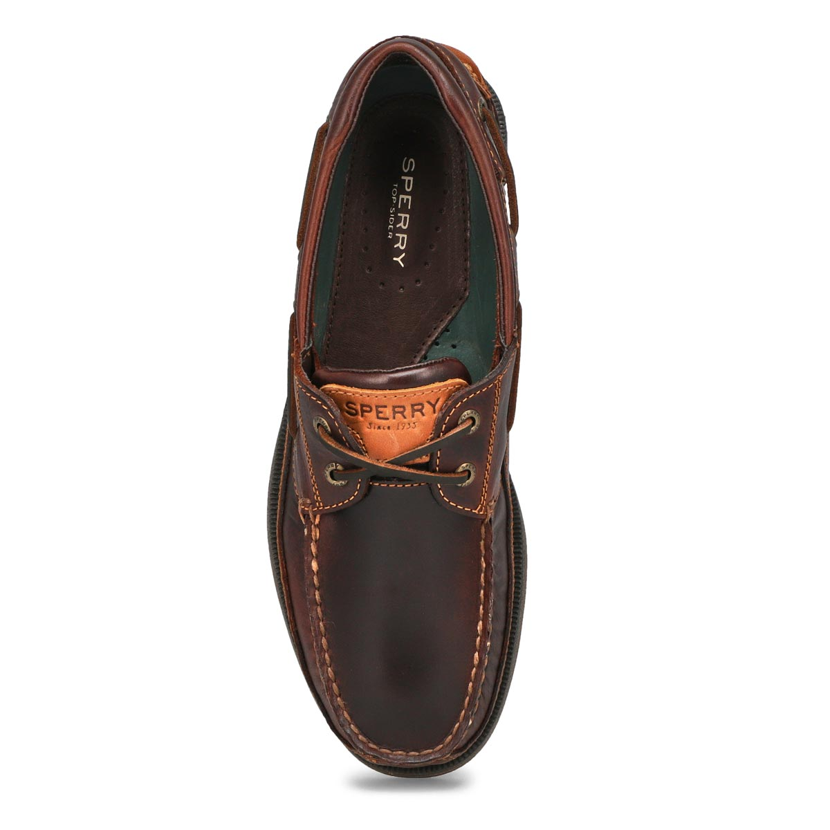 Men's MAKO amaretto 2-Eye leather boat shoes
