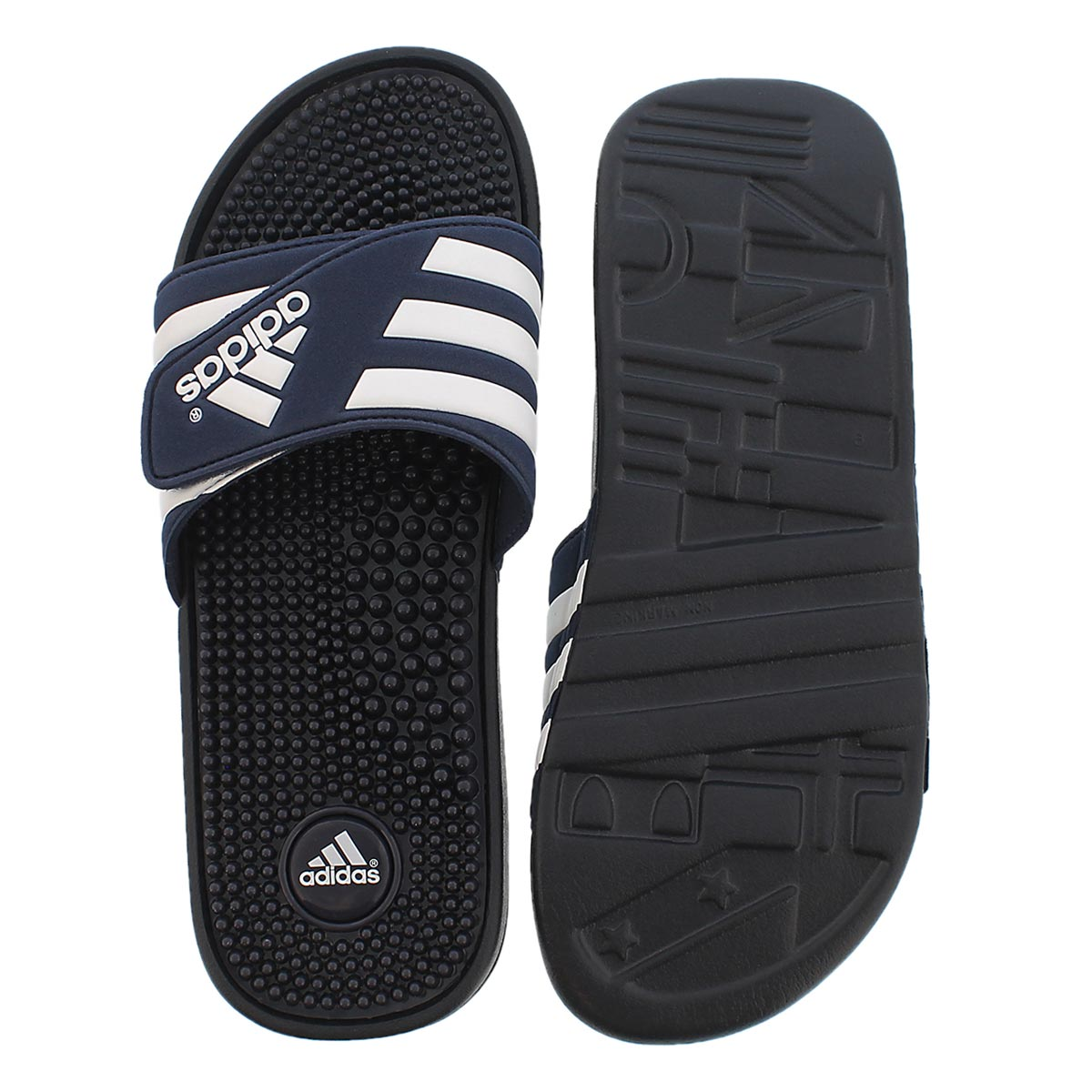Mns Adissage navy/white slide sandal