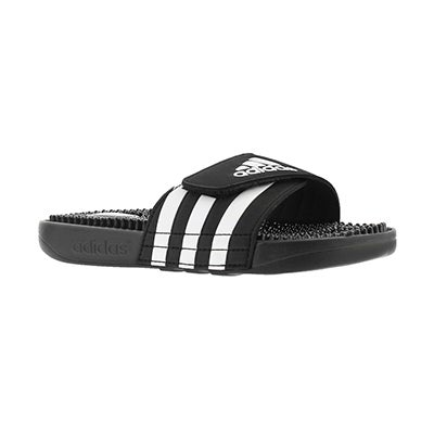 Adidas Kids' ADISSAGE black adjustable slides