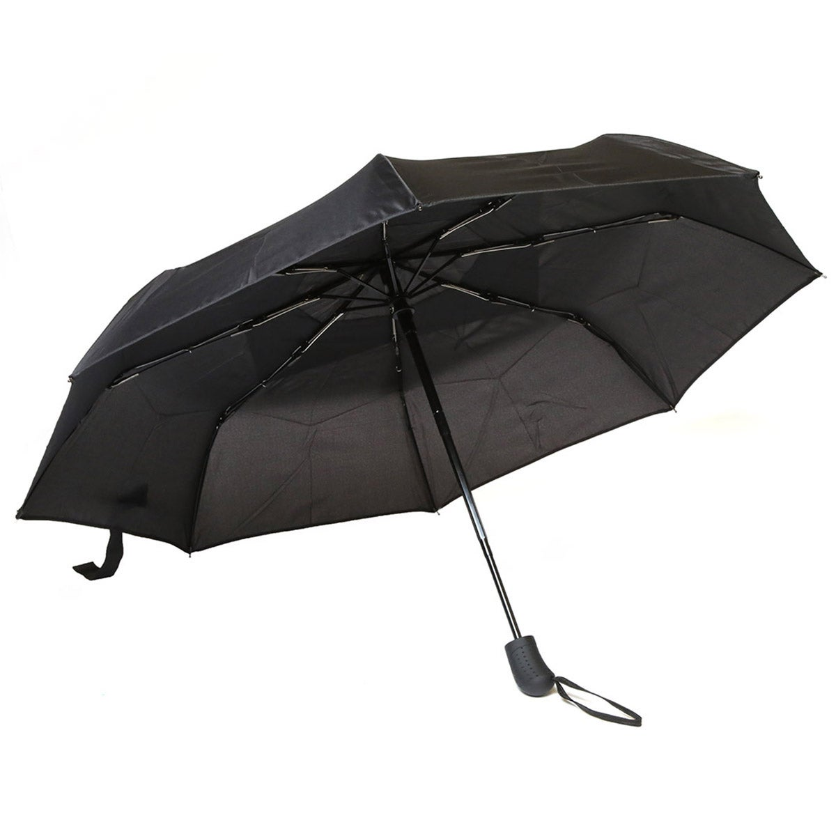 Roots73 black telescopic vented umbrella