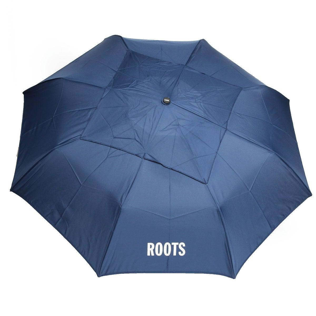 Roots73 navy telescopic vented umbrella