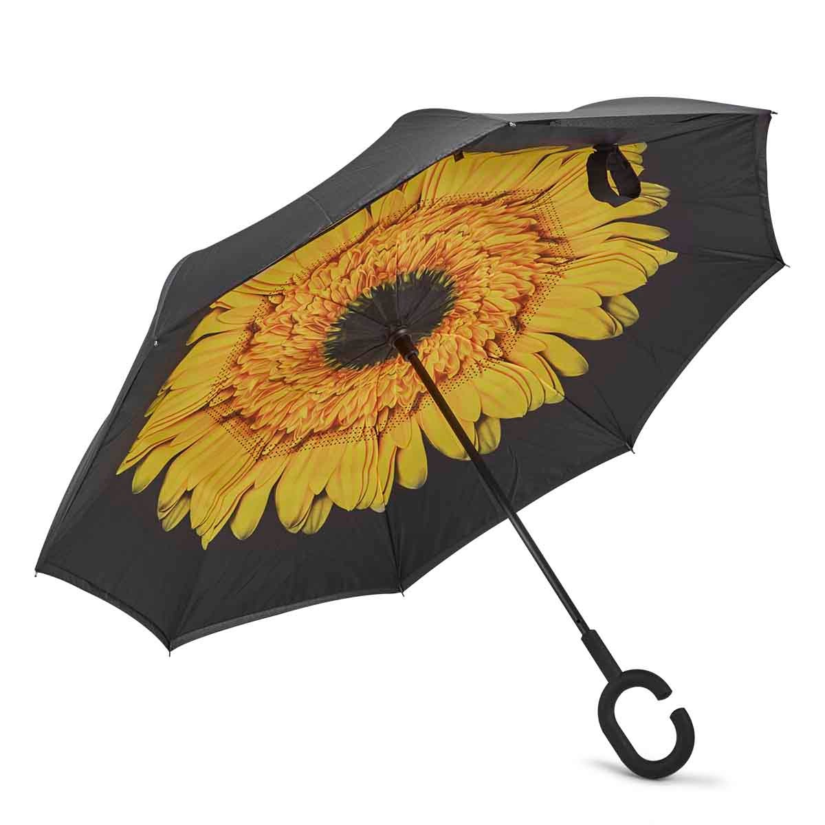 BelAmi YELLOW FLOWER reversible umbrella