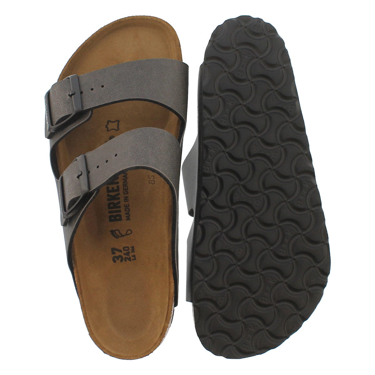 Lds Arizona anthracite BF 2 strap sandal