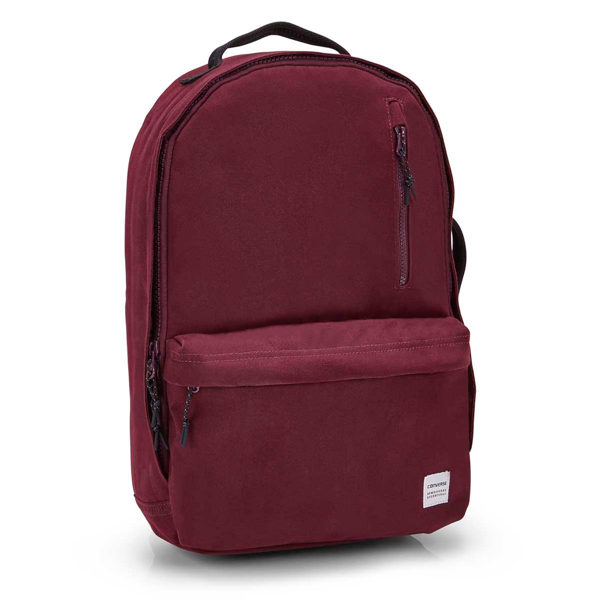 Unisex ESSENTIALS sangria canvas backpack