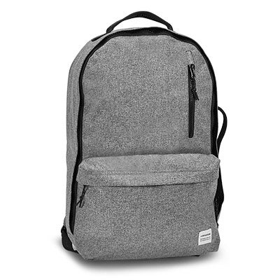 Unisex Essentials grey wooltech backpack