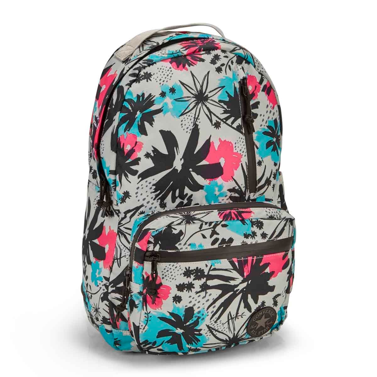 Women's POLY GO painted floral backpack
