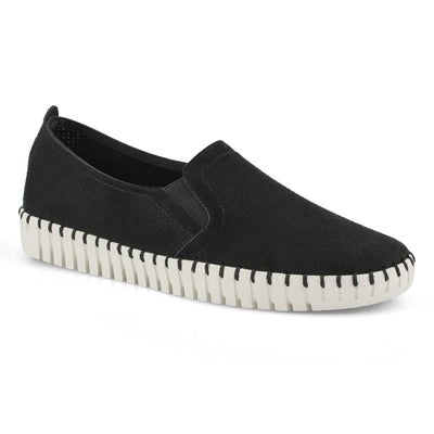 Lds Sepulveda Blvd black slip on sneaker