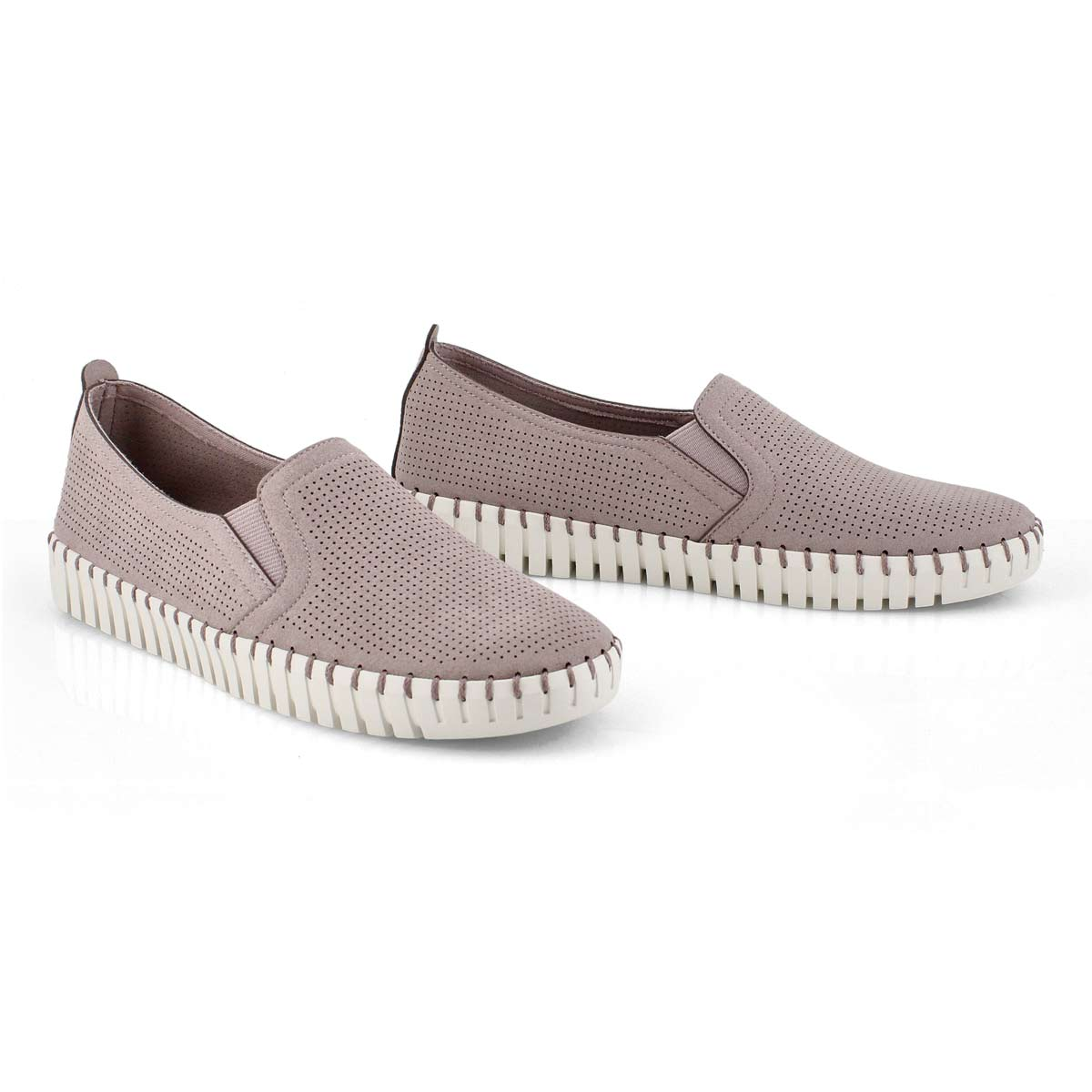 Lds Sepulveda Blvd lilac slip on sneaker