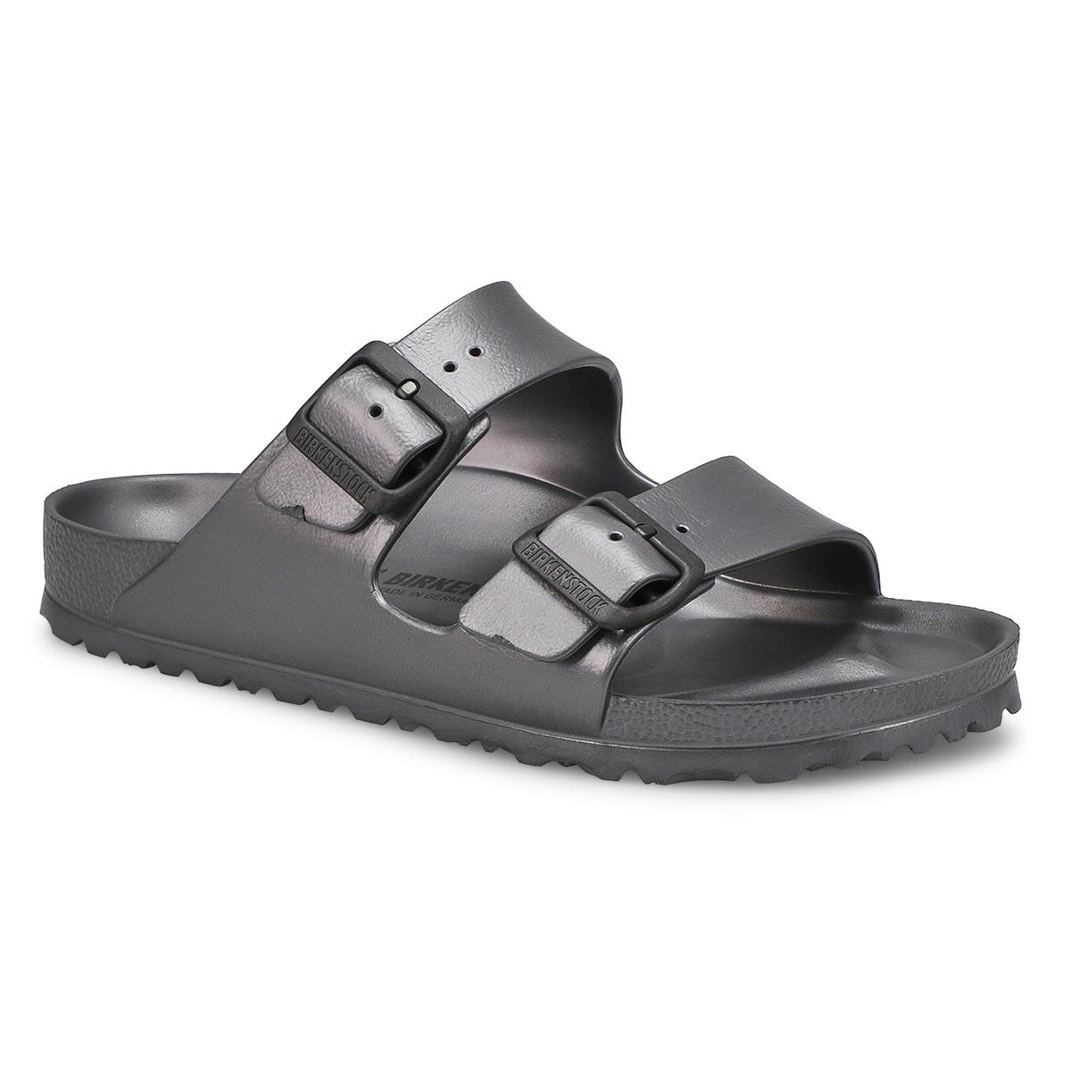 Women's ARIZONA metallic anthracite EVA sandals