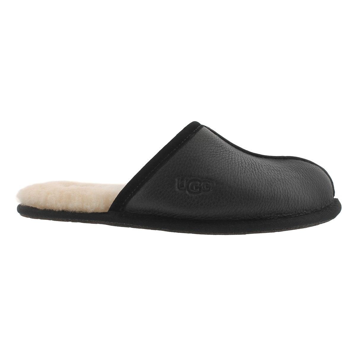 Mns Scuff black sheepskin slipper