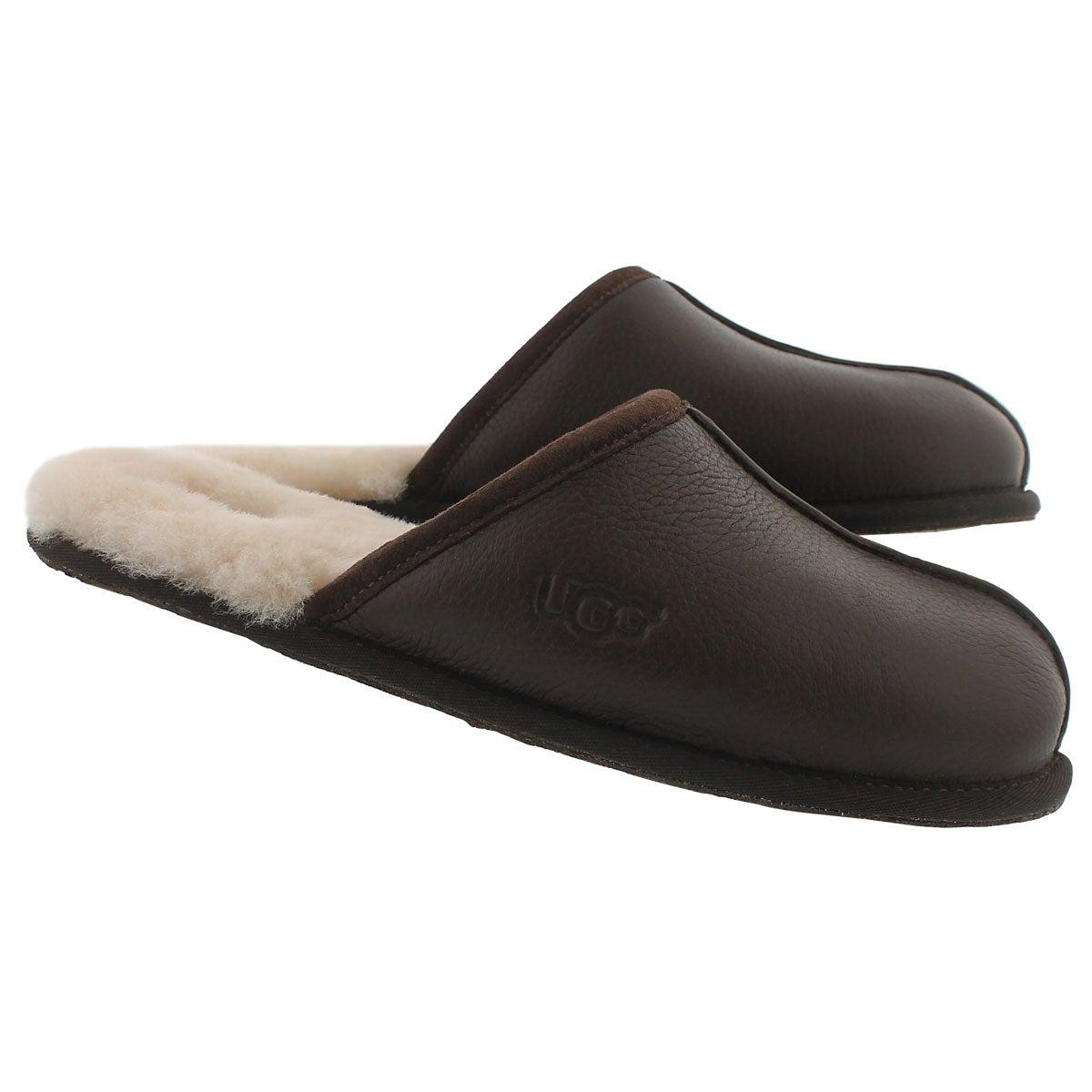 Pantoufle SCUFF, mouton brun stout, hom