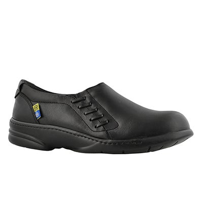 Lds Angie black CSA slip on shoe