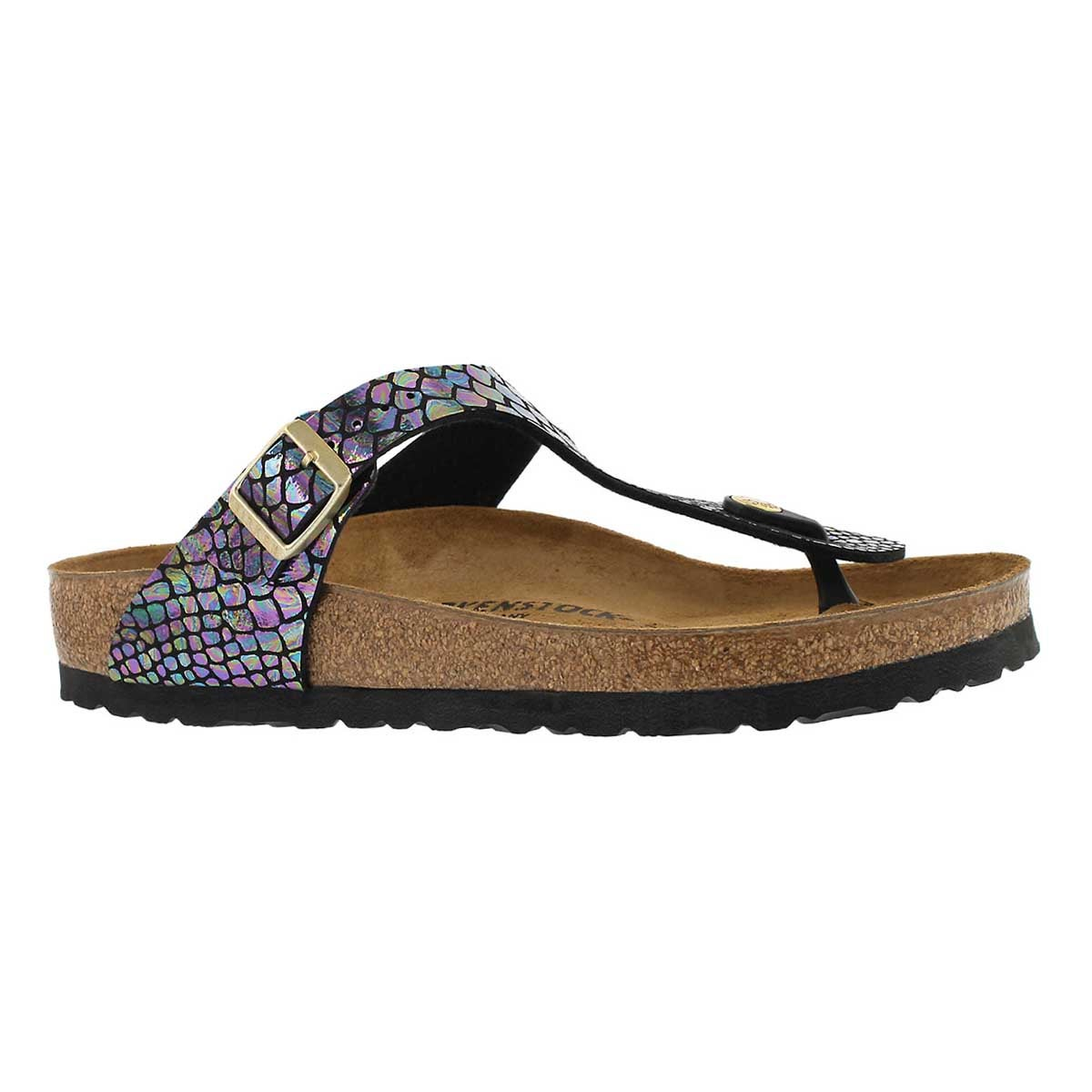 Women's GIZEH shiny snake multi coloured sandal