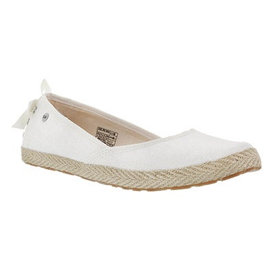 UGG Australia Women's INDAH white slip-on shoes