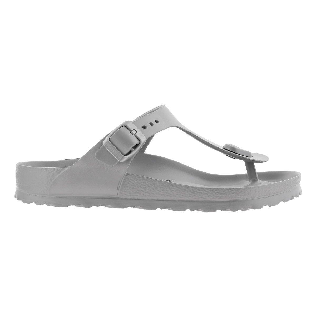 Lds Gizeh EVA metallic slvr thong sandal