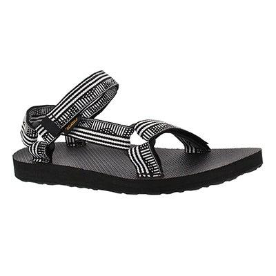 Lds Orig Universal blk/wht sport sandal
