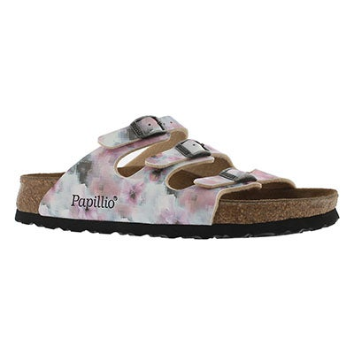 Lds Florida pixel rose BF sandal- Narrow