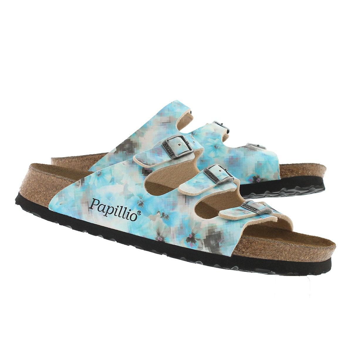 Lds Florida pixel blu BF sandal- Narrow