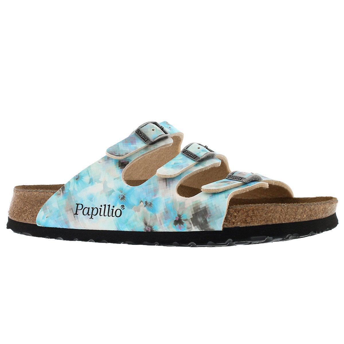 Women's FLORIDA pixel blue BF sandals - Narrow