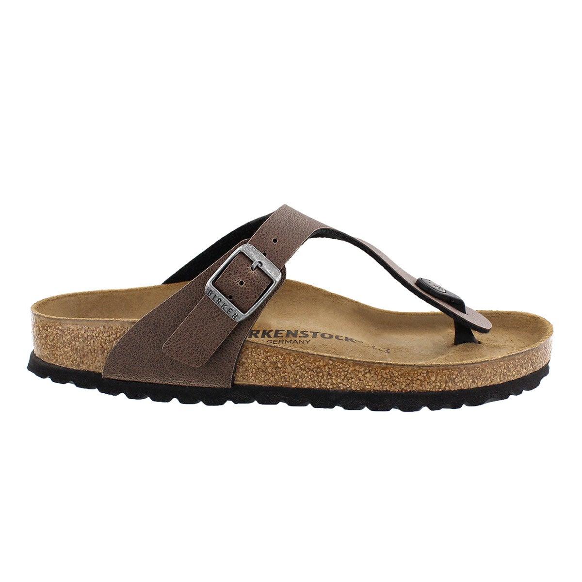 Lds Gizeh brown BF thong sandal