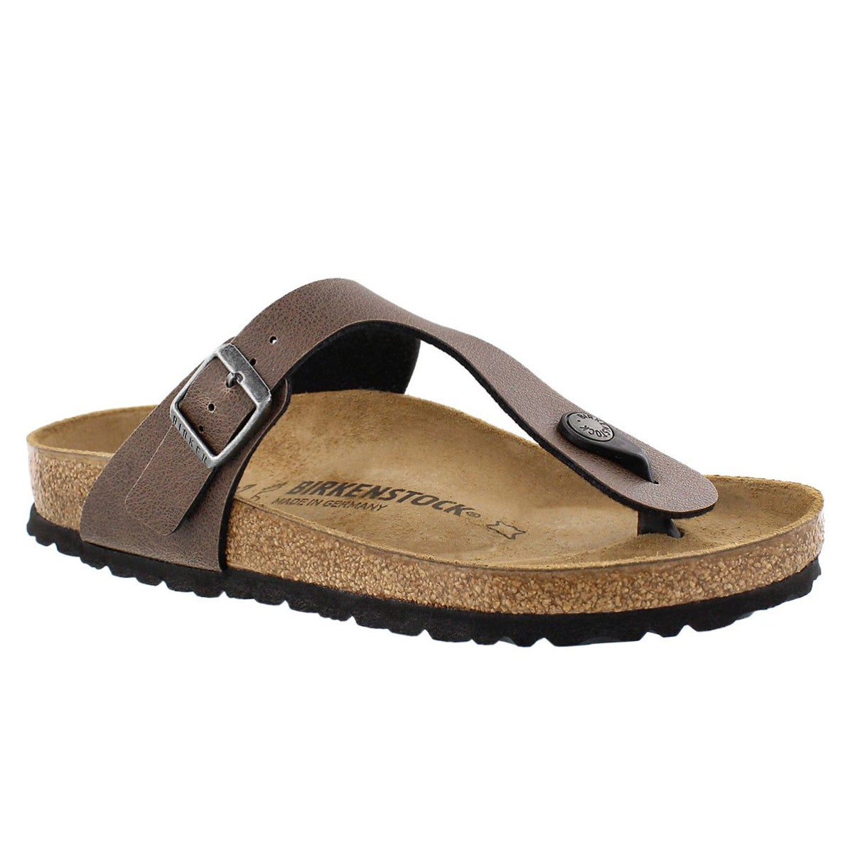 Women's GIZEH brown BF thong sandals