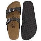Lds Sydney black slide sandal -Narrow