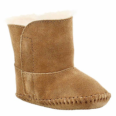 Inf Caden chestnut sheepskin boot