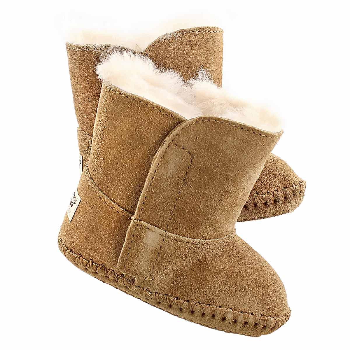 Inf Caden chestnut sheepskin boot