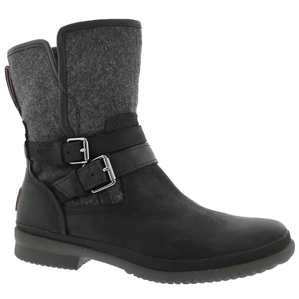 Women's SIMMENS black waterproof boots