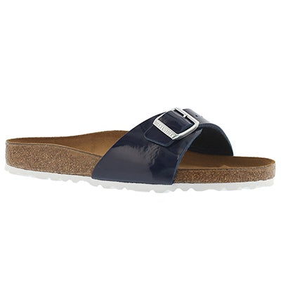 Lds Madrid blue dress BF 1 strap sandal
