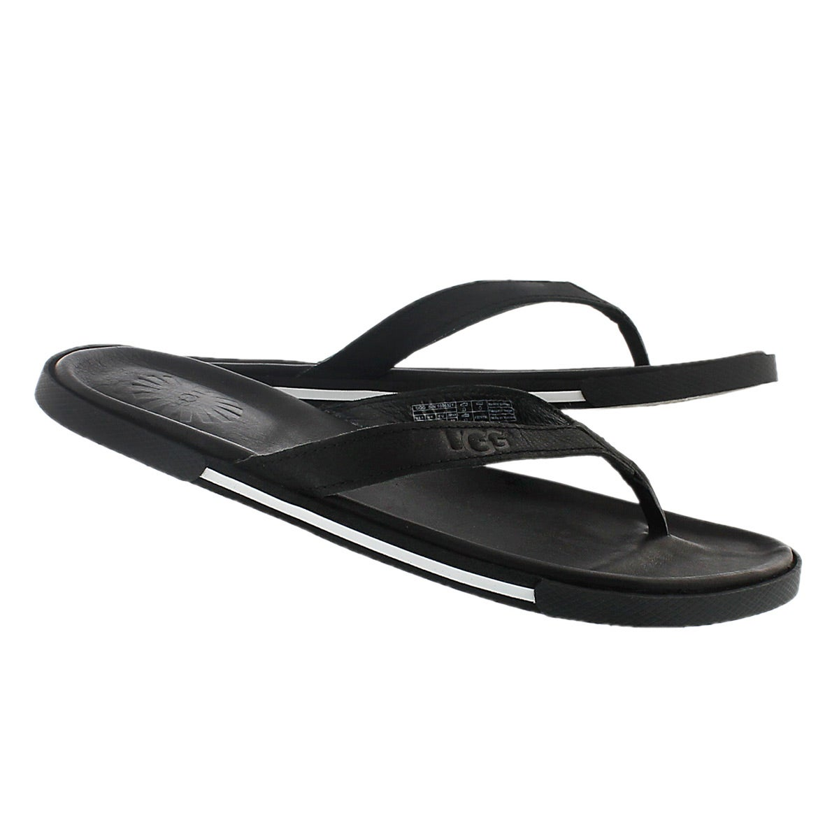 Mns Bennison II black leather sandal