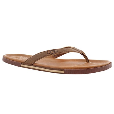 UGG Australia Men's BENNISON II luggage leather sandals