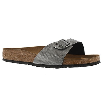 Lds Madrid grey jeans BF sandal - Narrow