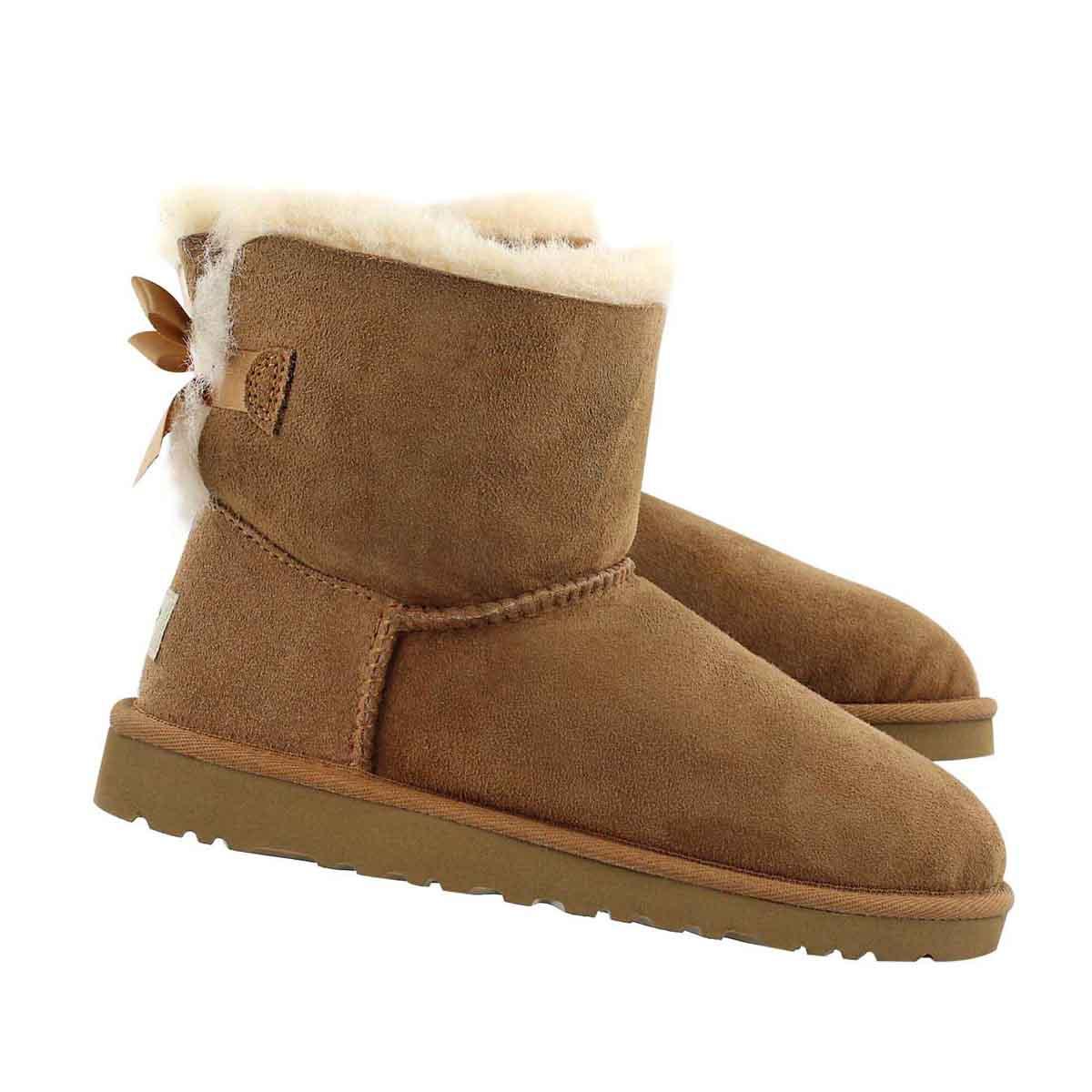 Grls Mini Bailey Bow ches sheepskin boot